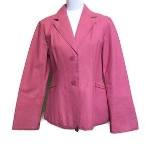NEWPORT NEWS pink REAL leather jacket blazer S